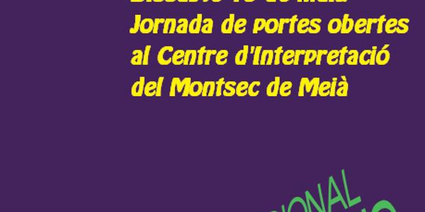 15 de maig. Dia Internacional dels Museus. Jornada de portes obertes al Centre d'Interpretació del Montsec de Meià