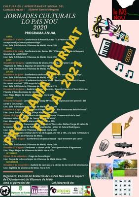 Ajornament Jornades Culturals Lo Pas Nou 2020