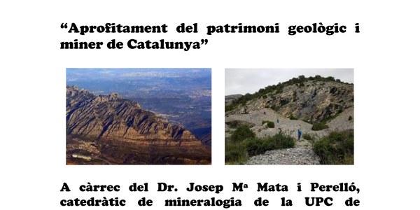 Conferència Aprofitament del patrimoni geològic i miner de Catalunya