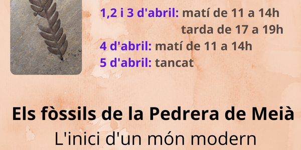 Horaris Setmana Santa del Centre d'Interpretació del Montsec de Meià