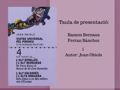 """Presentació del llibre """"Viatge universal del Pirineu"""""""