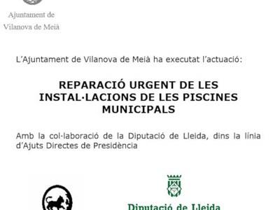 Reparació de les instal·lacions de les piscines municipals