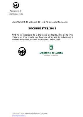 Servei salvament i socorrisme estiu 2019